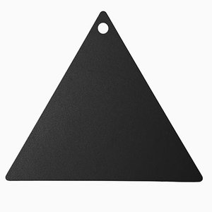 Black Ceramic Triangle Chopping Board by Tiziana Vittoni Pairazzi for Paira