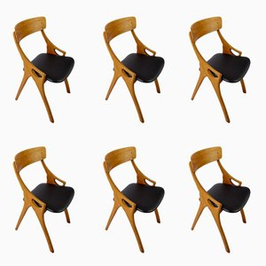 Dining Chairs by Arne Hovmand Olsen for Mogens Kold, 1950s, Set of 6