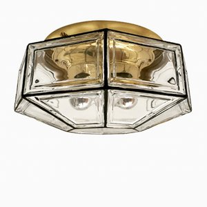 Large Brass Wall or Ceiling Lamp from Limburg, 1960s