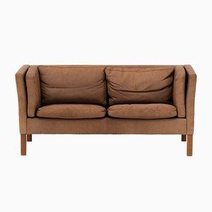 2-Sitzer Leder Sofa, 1960er