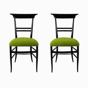 Italian Side Chairs, 1940s, Set of 2