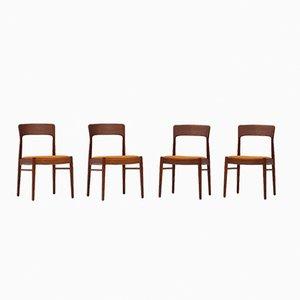 Dänische Esszimmerstühle von Kai Kristiansen für Korup, 1960er, 4er Set