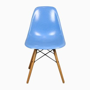 Vintage Blue DSW Chair by Charles & Ray Eames for Herman Miller