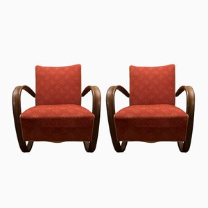 H-269 Armchairs by Jindřich Halabala for UP Závody Brno, 1930s, Set of 2