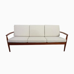 Danish Modern Teak Sofa by Grete Jalk for France & Søn, 1960s