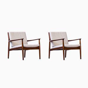 Dänische Sessel von Grete Jalk für Glostrup Møbelfabrik, 1950er, 2er Set