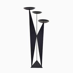 Skulpturaler Kerzenständer aus Metall, 1960er