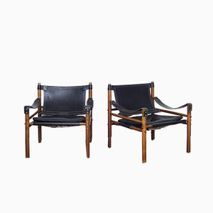 Sirocco Safari Chairs by Arne Norell, 1960s, Set of 2
