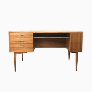 Mid-Century Desk with Bar Compartment, 1960s