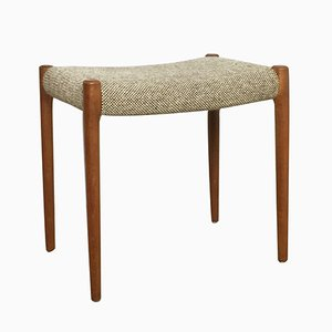 Danish Teak & Fabric Stool by Niels O. Møller for J.L. Møllers, 1960s