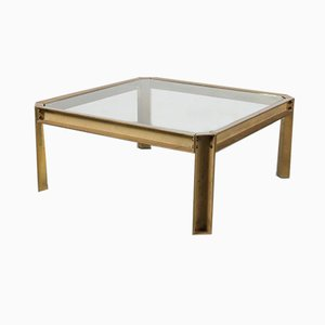 Brass Coffee Table by Peter Ghyczy, 1970s