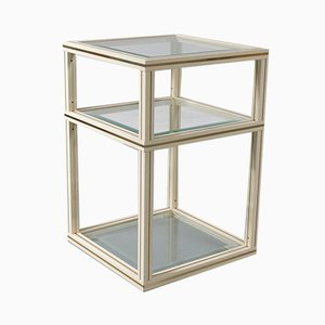 Brass 2-Tiered Side Table by Pierre Vandel, 1970s