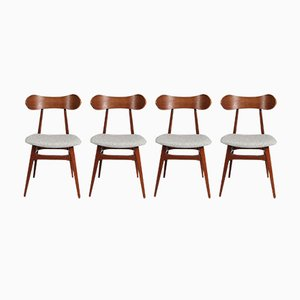 Dutch Dining Chairs by Louis van Teeffelen for WéBé, 1950s, Set of 4