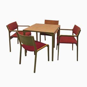 Game Table Set by Wilhelm Ritz for Wilkhahn, 1960s