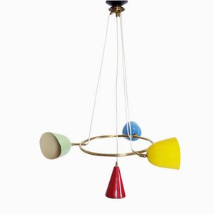Multicolored Pendant Lamp, 1950s