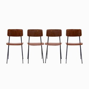 Industrial Dining Chairs by Ynske Kooistra for Marko, 1960s, Set of 4