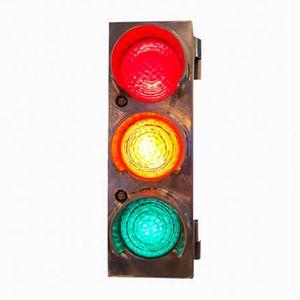Small Vintage Aluminum Traffic Light