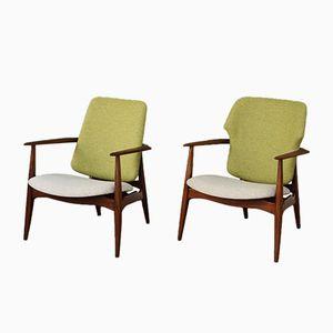 Vintage Armchairs by Louis van Teeffelen