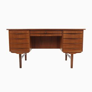 Danish Teak Free Standing Writing Desk, 1960s