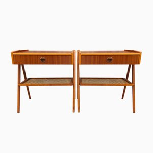 Teak Bedside Tables by Kai Kristiansen, 1960s, Set of 2