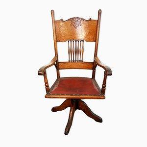 Chaise de Bureau Pivotante Edwardien