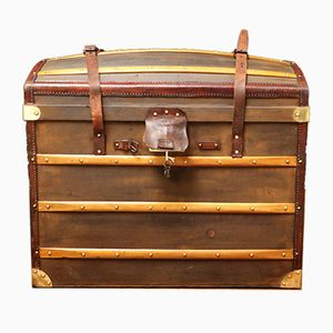 Antique French Curved Trunk from Moynat