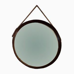 Runder Spiegel mit Teak Rahmen, 1960er