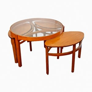 Trinity Coffee Table with Three Nesting Tables Set from Nathan, 1960s