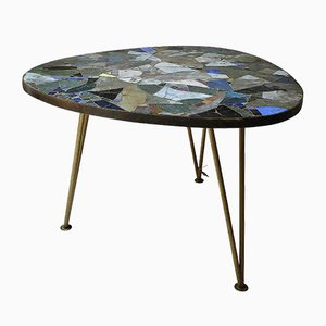 Italian Mosaic Tripod Coffee Table, 1950s