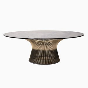 Round Glass Coffee Table by Warren Platner for Knoll International, 1960s
