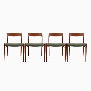 Vintage Model 75 Chairs by Niels Otto (N. O.) Møller, Set of 4