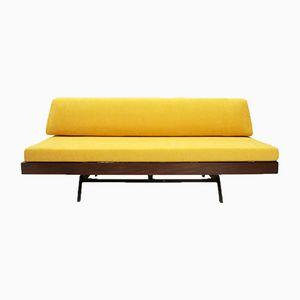 Italian Yellow Velvet Daybed, 1960s