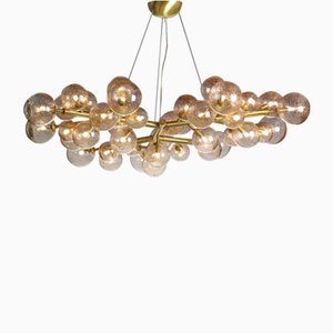 Mimosa Chandelier with 42 Lights in Mika Rose by Alberto Dona