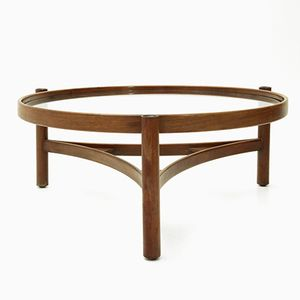 Model 775 Coffee Table with Round Tabletop by Gianfranco Frattini for Cassina, 1964