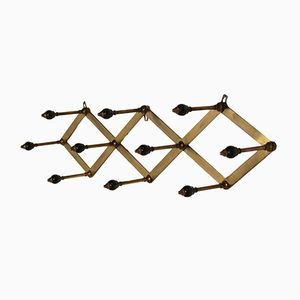 Vintage AT4 Brass Coat Rack by Luigi Caccia Dominioni for Azucena