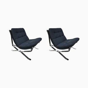 Lotus Lounge Chairs by Ico & Luisa Parisi for MIM, 1960s, Set of 2