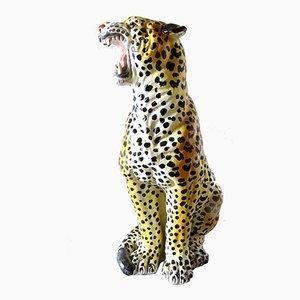 Italienischer Keramik Leopard von Ronzan, 1960er