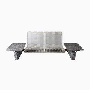White-Lacquered Steel Bench by Osvaldo Borsani for Tecno, 1980s