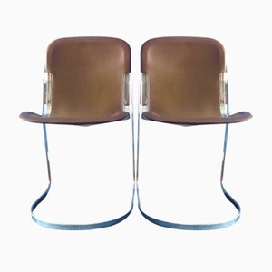Italian Chairs by Willy Rizzo for Cidue, 1970s, Set of 2