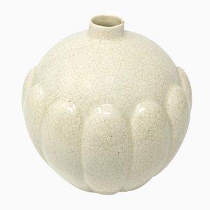 Französische Art Deco Craquelé Vase, 1930er