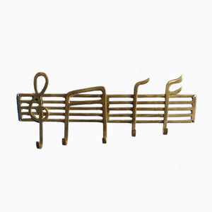 Coat Rack in Brass, 1940s