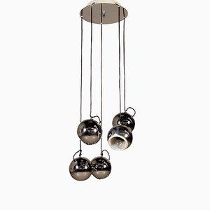 Italian Chromed Metal Pendant Lamp, 1960s