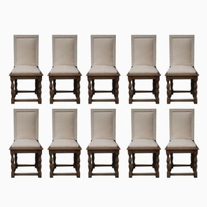 Late 19th Century Dining Chairs, Set of 10