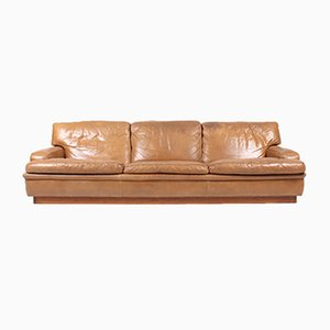 3-Seater Leather Sofa by Arne Norell, 1960s