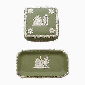 Jasper & Sandstone Boxes from Wedgwood, 1960s, Set of 2