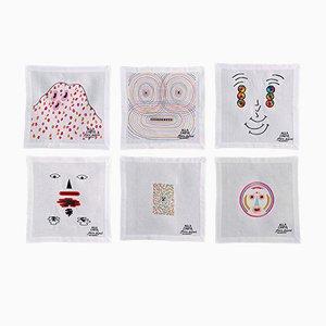 Alla Carta Tovaglioli Napkin Collection by Claire Dupont for Bellavia Ricami SPA, Set of 6
