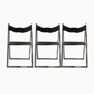 Folding Chairs from Lübke, 1970s, Set of 3