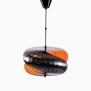 Spiral Pendant in Stainless Steel by Henri Mathieu, 1960s