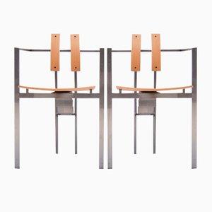 Trix Chairs von Karl Friedrich Förster für KFF, 1980er, 2er Set