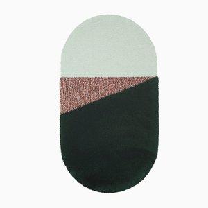 Medium RG Green/Brick Oci Teppich von Seraina Lareida für Portego